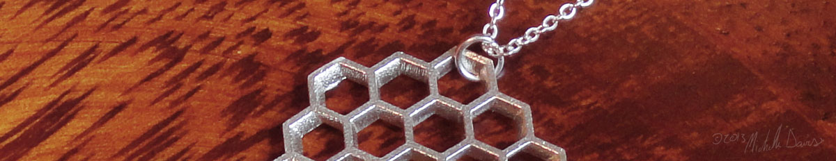 Silver honeycomb pendant zoom photo by michelle davis