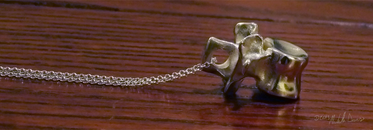 L3 vertebra pendant in silver photo 2 by michelle davis