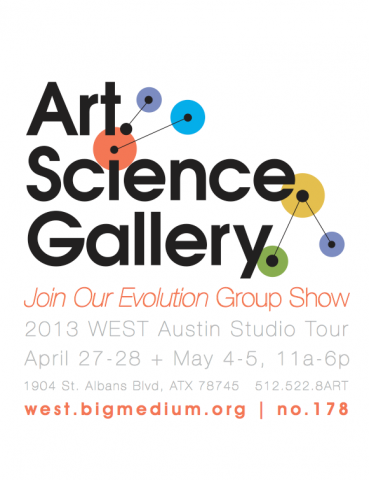 poster for the evolve art science gallery show