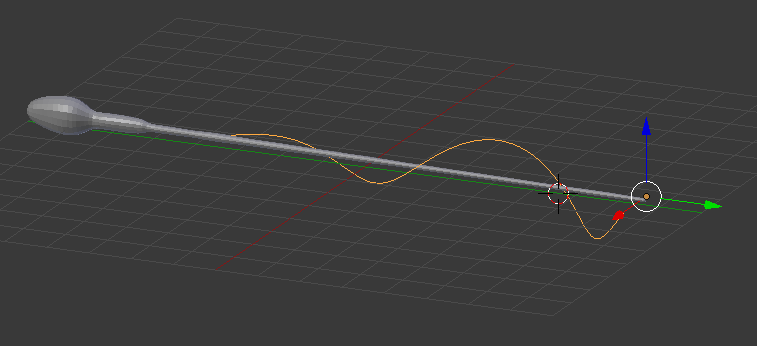 image of tapered helix in blender