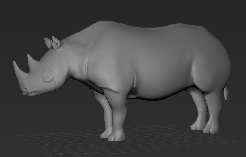 basic rhino sculpt in zbrush by michelle davis