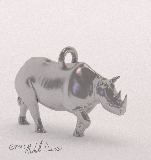 rhino digital sculpt view 2 by michelle davis