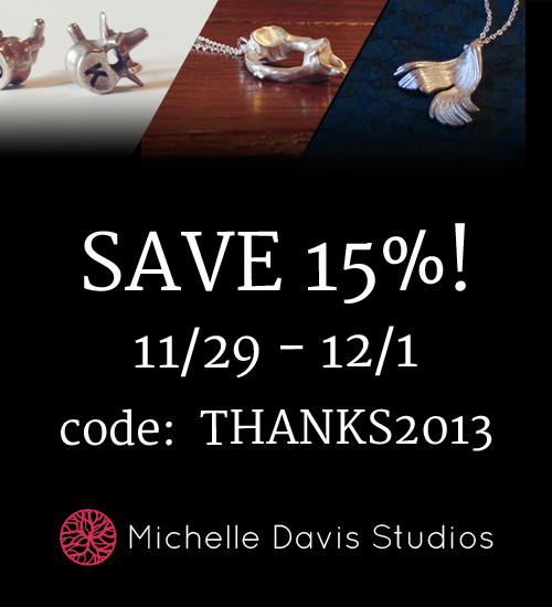 image advertisement of Michelle Davis Studios Black Friday 2013 Sale
