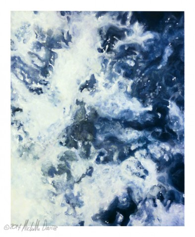 acrylic painting by Michelle Davis: water study #1