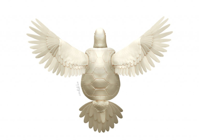 Literal Turtle Dove Digital Sculpt